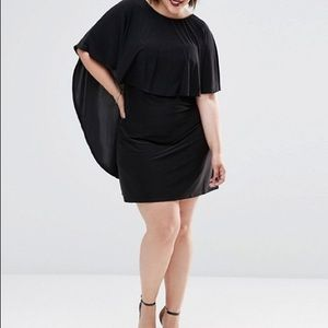 Club L plus size dress with cape and harness back